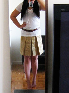 J.Crew Metallic Moss Jacquard Skirt