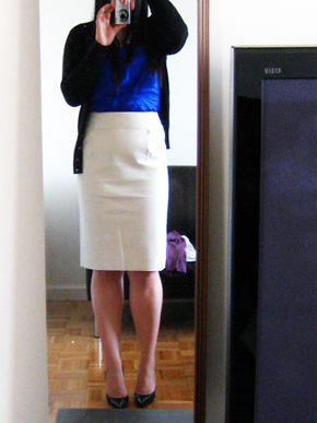 J.Crew Double Serge Pencil Skirt