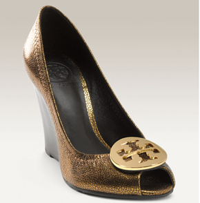Tory Burch Julianne Peep Toe Wedge