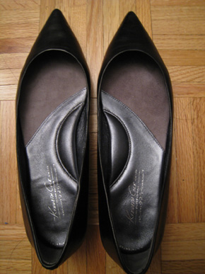 Kenneth Cole 925 Technology Silver Tongue Flats