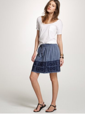 J.Crew Embroidered Zafrina Skirt