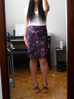 J.Crew Ink Blossom Pencil Skirt