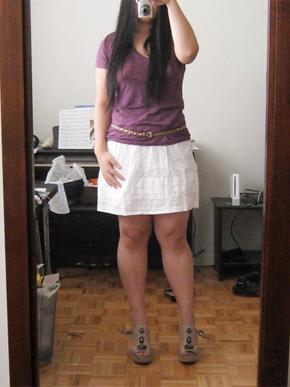 Banana Republic Cotton Eyelet Skirt
