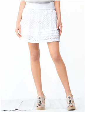 e421c03a55 Banana Republic Cotton Eyelet Skirt | Crewlade