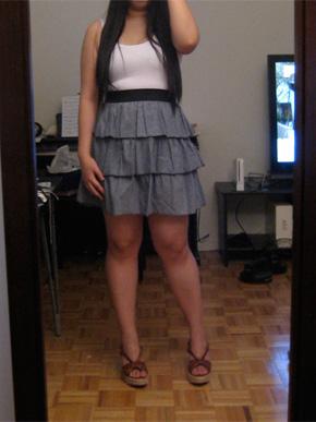 Love Ady Ruffled Chambray Dress