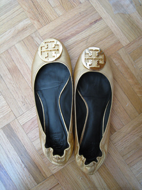 7ff014cae Tory Burch Gold Reva Flats
