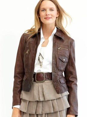 Banana Republic Leather Patch Pocket Jacket