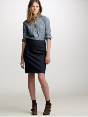 Denim pencil skirt j crew – Fashionable skirts 2017 photo blog