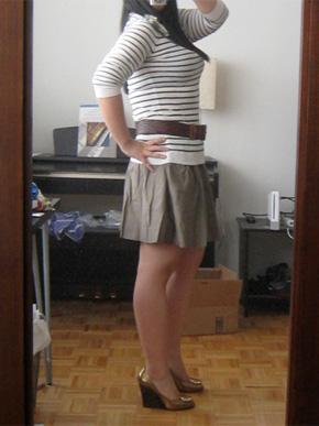 Banana Republic Cotton Pleated Skirt