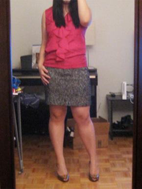 Ann Taylor Loft Chunky Tweed Mini Skirt