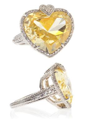 Judith Ripka Lola Heart Large Stone Ring