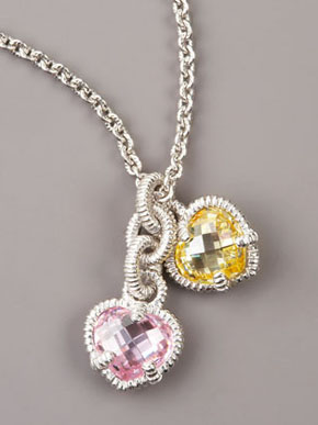 Judith Ripka Heart Charm Necklace